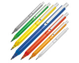 Transparent plastic ball pen