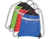 Non-woven gym bag including reflectable stripe